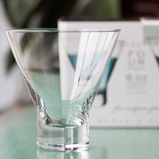 Circleware stemless martini glass