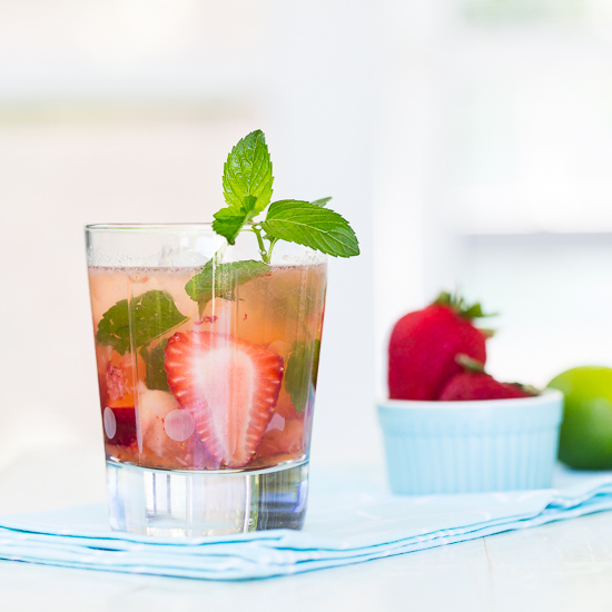 Strawberry Mint Ginger Mojito | Tipsy Tuesday