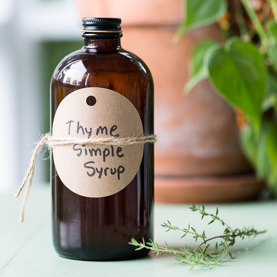 Thyme Simple Syrup - Grey is the New Black