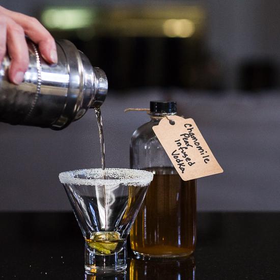 Chamomile Pear Elderflower Martini | Tipsy Tuesday