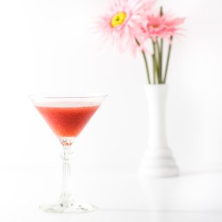 Frozen Raspberry Martinis