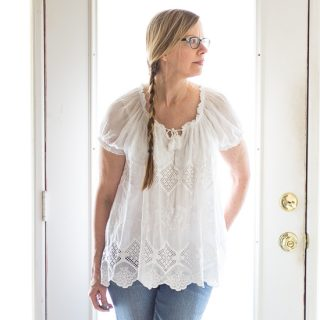 Belle France White Peasant Top | Fashion Over 50