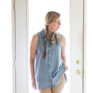 Sleeveless Chambray for Fashion Over 50