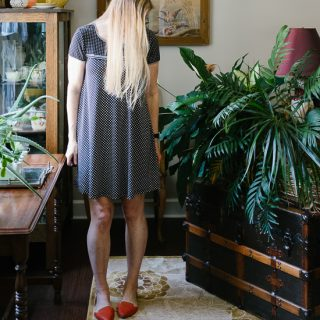 Little Black Polka Dot Dress