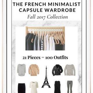 French Minimalist Fall Capsule Wardrobe 2017
